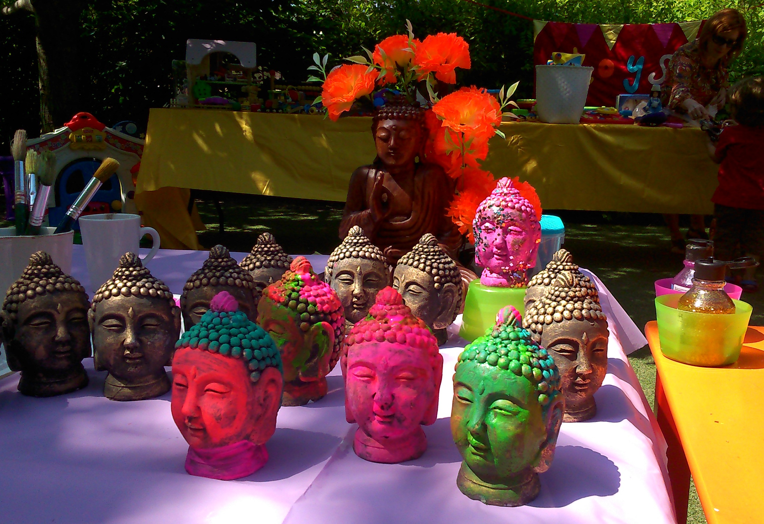 Summer Fayre 2014 - Painted Buddha Heads.jpg