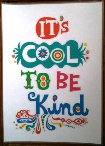 Kindness boomerang - Cool to be kind poster